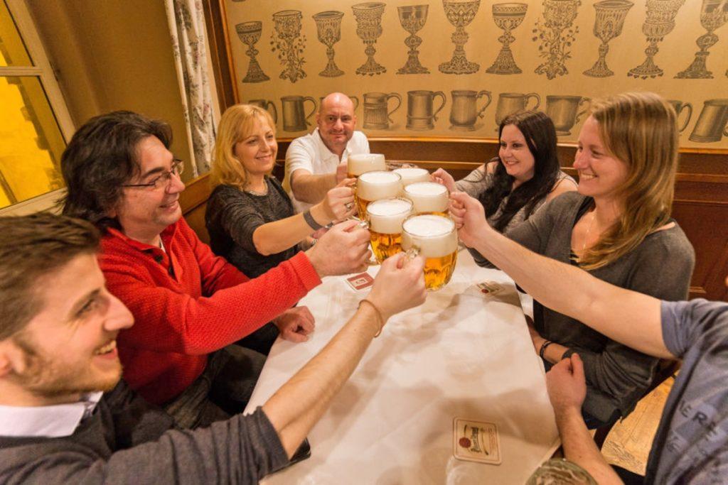 Group beer tasting