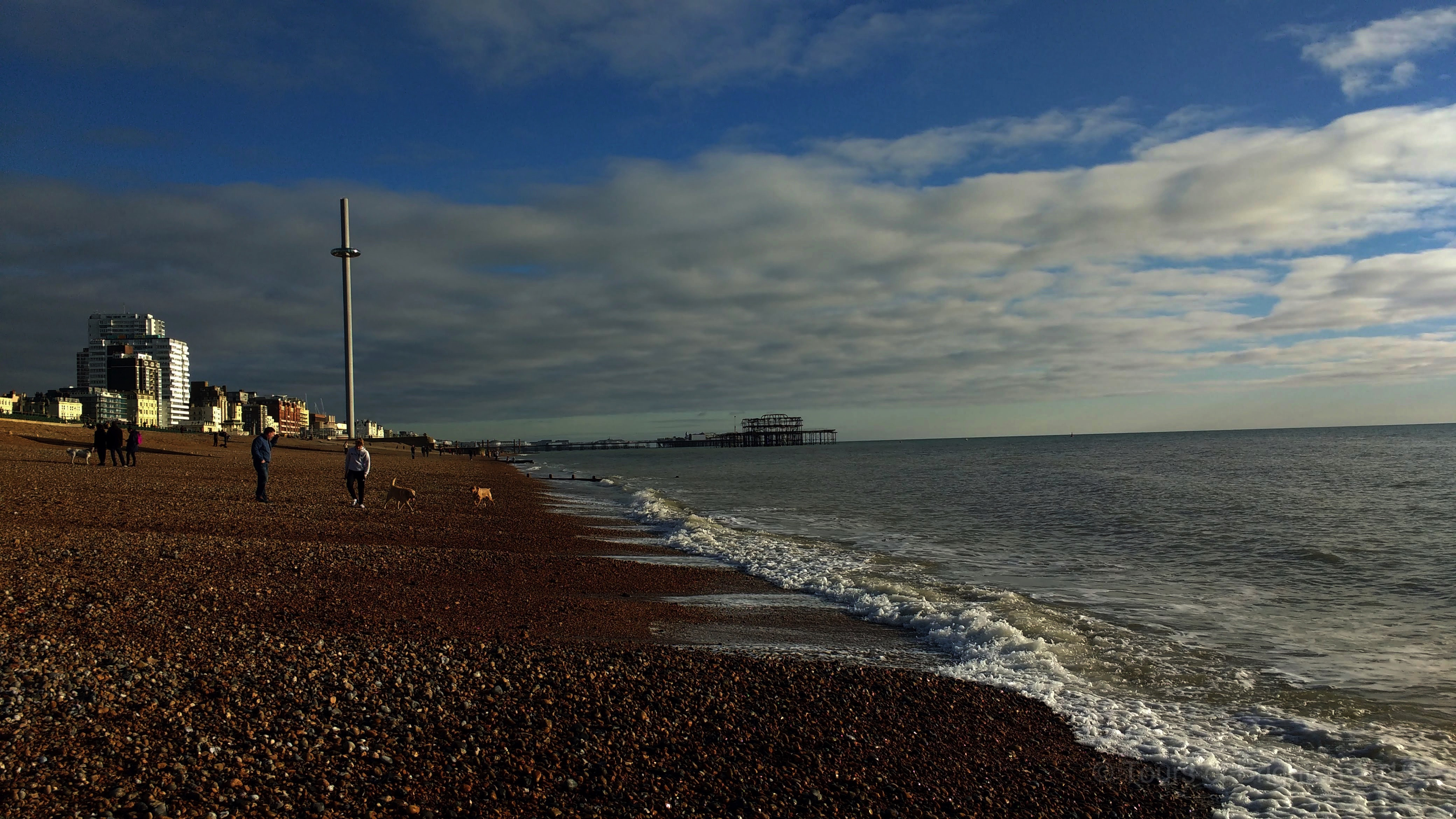 Brighton by the sea with view of the I360