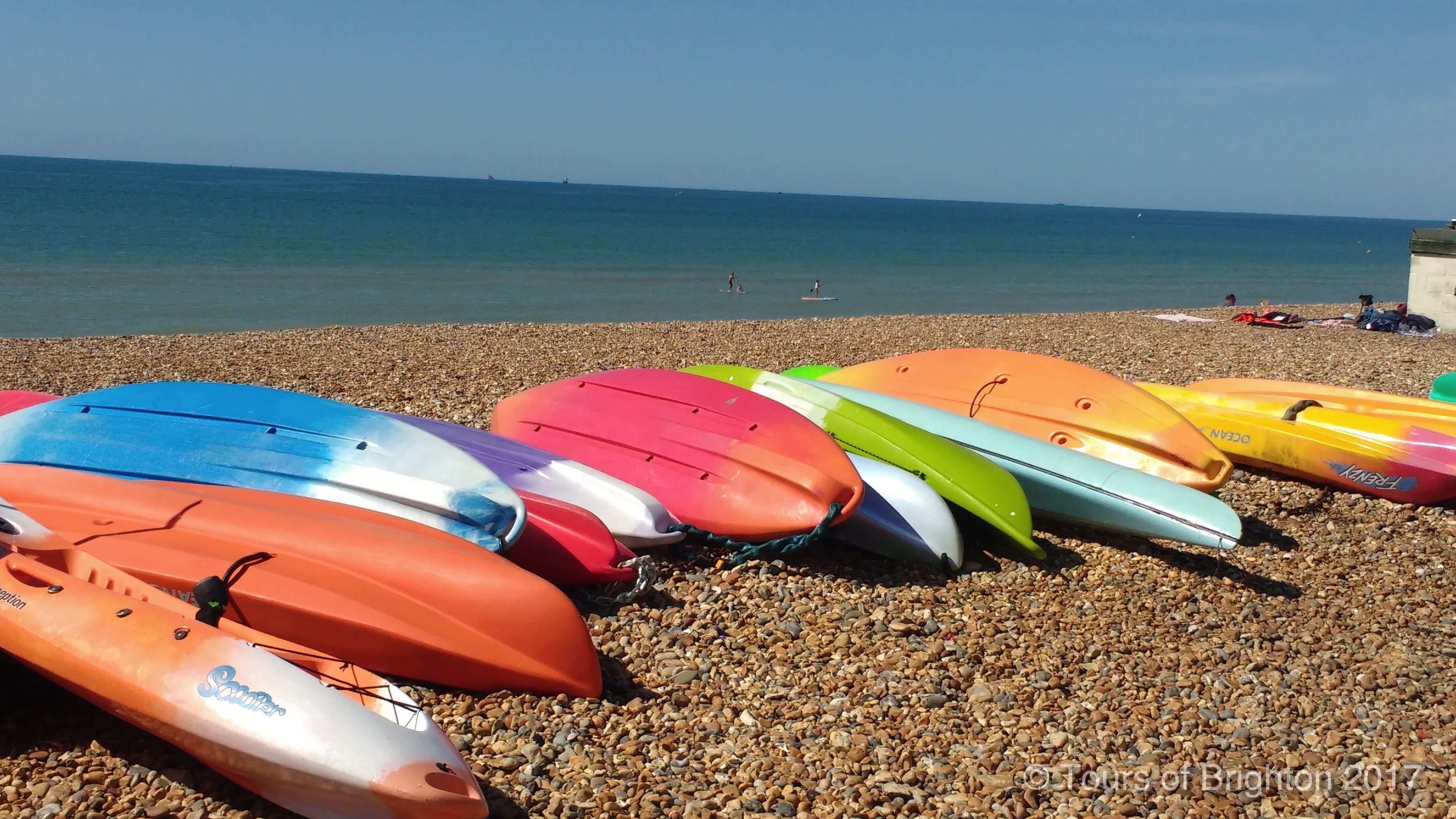 Paddle boarding in Brighton