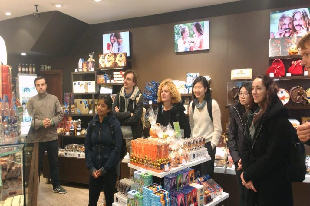 Chocolate is an example of the tasters on our Brighton walking food tour