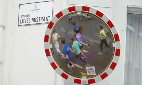 Running tour in Ghent from a different angle