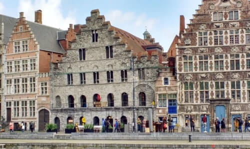 Visit famous Graslei with Tours of Ghent